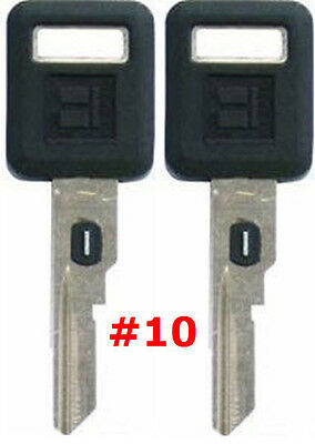 MADE IN USA 2 NEW GM Double Sided VATS Ignition Key #12 UNCUT V.A.T.S B82-P12