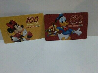 2 Used 2002 Walt Disney World One Day Park Pass Ticket 100 YEAR Mickey Mouse