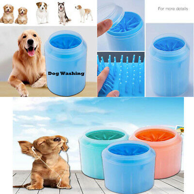 SH Portable Dog Paw Cleaner Pet Cleaning Brush Cup Dog Foot Cleaner Feet Washer