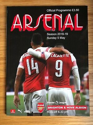 Offical Arsenal Programme Sunday 5 May 2019