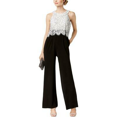 INC Womens B//W Off-The-Shoulder Popover Printed Jumpsuit Plus 0X BHFO 6780