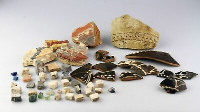 *SC* LOT OF ROMAN MOSAIC, WALL PAINTING & FRAGMENTS, 1st-3rd cent AD.