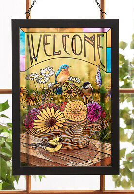 A Summer Bouquet - Songbirds Stained Glass Art by Rosemary Millette