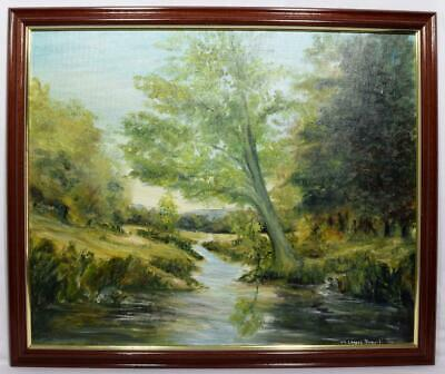 Original Cornish Oil Painting Signed Mary Louis Powell Listed Artist 1980s