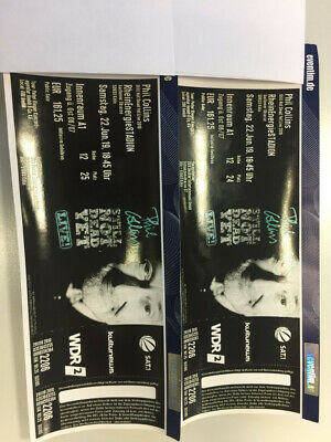 2 Top Tickets Phil Collins Köln - Sa.22.6. - Block A1