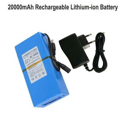 12V 20000mAh  Portable Li-ion Lithium Rechargeable Battery Pack +AC Adapter
