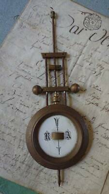 SUPERB ANTIQUE FRENCH BRASS & ENAMEL CLOCK PENDULUM 19th CENTURY