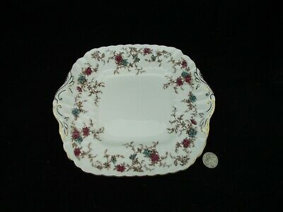 Minton Ancestral Square Handled Cake Plate