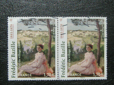 Lot 2 Timbres Frideréc Bazille  2017 n°5122