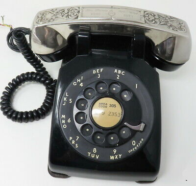 Vintage 1962 Western Electric Bell Rotary Dial 500 Telephone Silverplate Handset