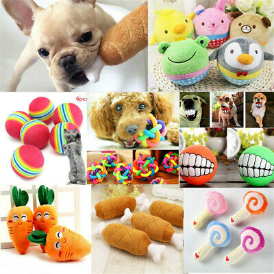 For Dog Cat Toy Play Funny Pet Puppy Chew Squeaker Squeaky Plush Sound Toys