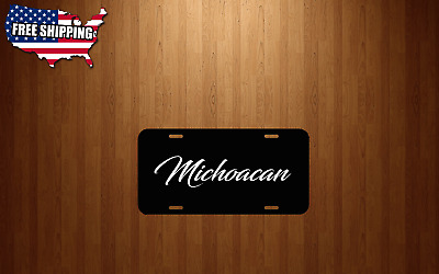 Michoacan Mexico Auto Novelty Black Aluminum License Plate Tag