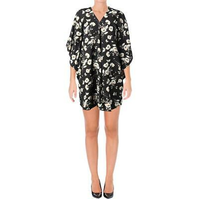 Lauren Ralph Lauren Womens Braedyn Black Floral Daytime Party Dress XL BHFO 0103