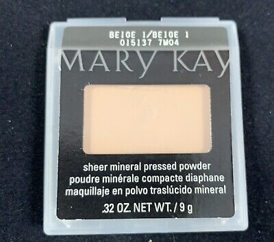 Mary Kay Sheer Mineral Pressed Powder BEIGE 1 NEW Free Shipping
