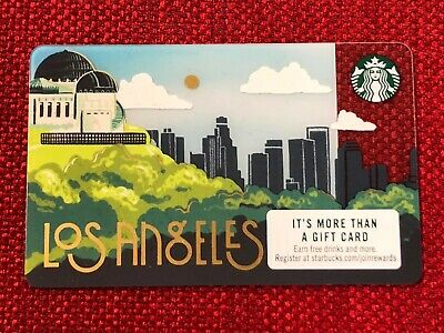 New Starbucks 2019 Los Angeles City Gift Card