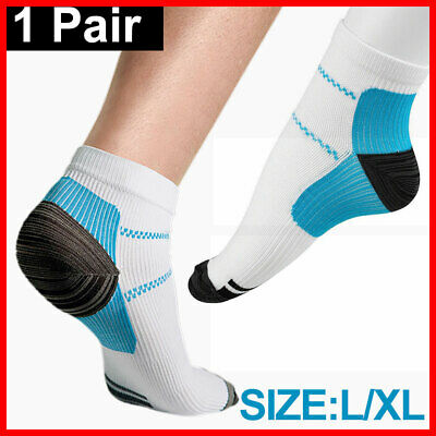 Compression Socks Ankle Sox Heel Sleeves Pain Relief Fasciitis Plantar Foot