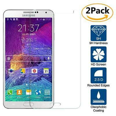2 Pack Tempered Glass Film Screen Protector For Samsung Galaxy Note 4 N9100