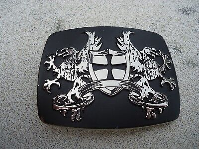 Belt Buckle Coat of Arms Shield Cross and Dragons approx. 3.25 x 2.5 in (W)