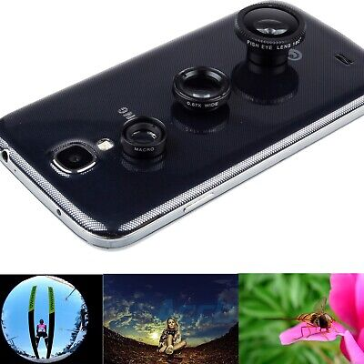Magnetic Fish Eye+Wide Angle+Macro Lens For Samsung Galaxy S10 S10e S9+ S7 Note8