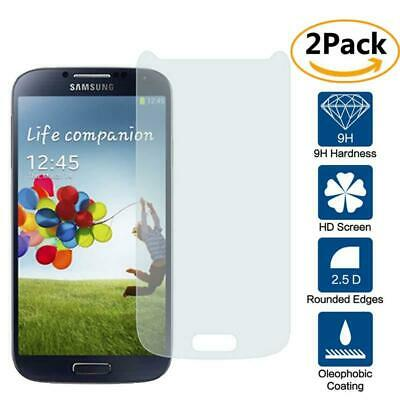 2 Pack Genuine Tempered Glass Film Screen Protector For Samsung Galaxy S4 i9500