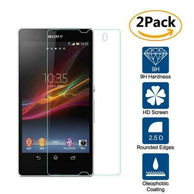 2 Pack Genuine Tempered Glass Film Screen Protector For Sony Xperia Z2 L50W