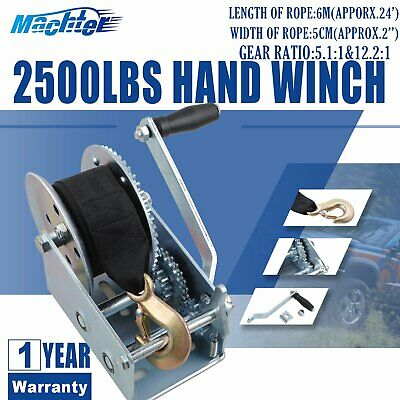 X-BULL Strap Hand winch 2500LBS/550KGS synthetic 2-Way For