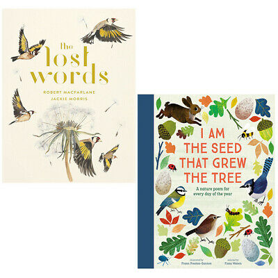 The Lost Words, I Am The Seed That Grew The Tree 2 Books Collection Set NEW