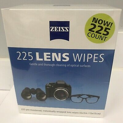 ZEISS Lens Cleaning Wipes 225 Eye Glasses Optical Camera Phone Cleaner Cloth