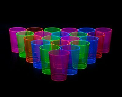 8 Neon Plastic 10 Ounce Bowls Assorted Color Summer Glow Birthday Parties Events