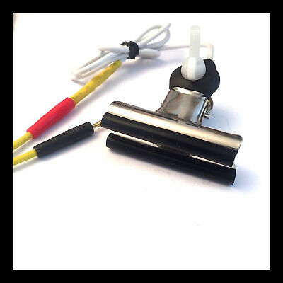 Two Butterfly Adjustable Clamps: Conductive Rubber Tips: Estim Tens Units.