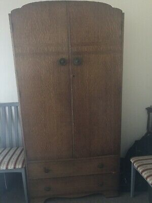 Wardrobe Vintage Over 100 years old Solid wood. With Key