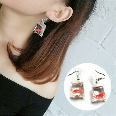 2de2581156f54 GOLDFISH WATER BAG Shape Dangle Hook Earrings Charm Women Jewelry ...