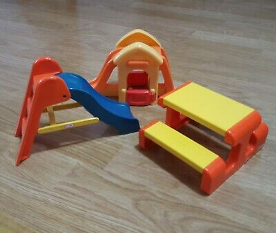 Little Tikes Playground Set 2 Types Of Slides Table And Chairs Playset Vintage