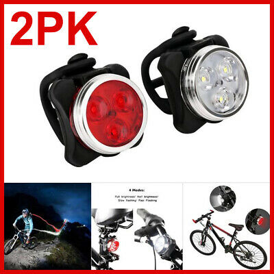 Waterproof USB Bike Lights Rechargeable Bicycle Tail Light IPX4 Front Rear Lamp