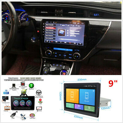 "9"" Single Din Android 8.1 Car Stereo Radio WiFi 3G 4G Quad-Core GPS Navigation"