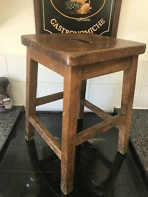 Stunning Quality Antique ,True Vintage ,School , Lab Stool /Industrial