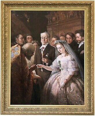 The Unequal Marriage Oil Painting after Vasili Pukirev (Russian, 1832-1890)