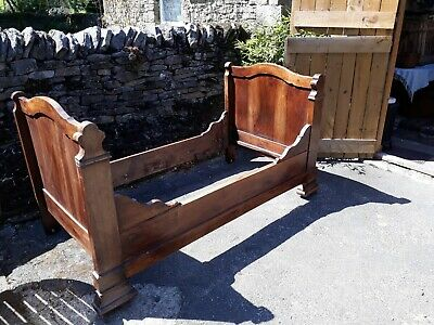 Antique French Single Bateau Bed