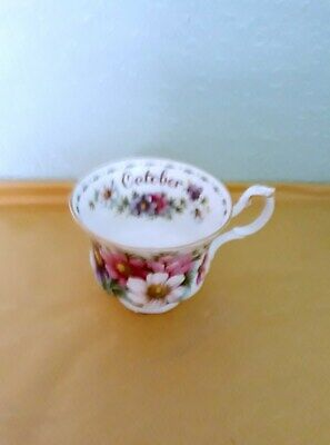 Royal Albert Flower Of The Month Tea Cup.october