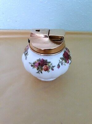 Royal Albert Old Country Roses Table Lighter Rare Item
