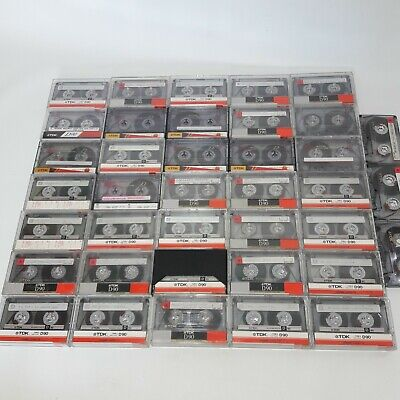 Joblot 35+ Tdk D90 Cassette Tapes All Tested Classic Rock And Pop