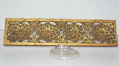 Small Antique Wood Carving from Thailand with Inset Mirrors, Stones