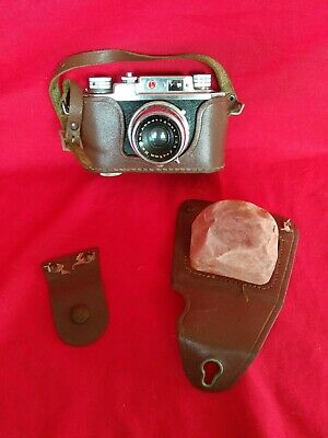 Vintage Halina 35X Super Camera Anastigmat1;3.5 f 45mm Lens some Leather Case
