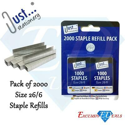 Tallon 2000 Staple Refill Pack | 26/6 Standard Size | Heavy Duty Staples