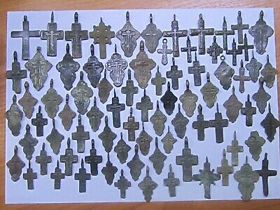A very large lot of ancient crosses of the 17-18 century.  Nice gift.