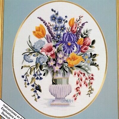 Elsa Williams LILY'S BOUQUET Crewel Embroidery Kit Michael A LeClair Iris Tulip