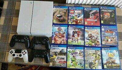 Sony PlayStation 4 PS4 500GB MASSIVE BUNDLE 12 games 4 X genuine PS4 controller