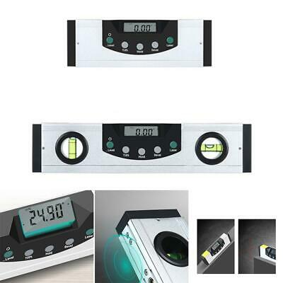 Electronic Digital Spirit Level Laser Magnetic Inclinometer Angle Measure Gauge