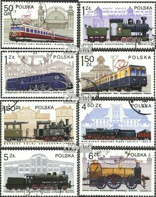 Poland 2543-2550 (complete issue) used 1978 Locomotives