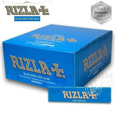 RIZLA BLUE KING SIZE SLIM rolling paper GENUINE Made in Belgium Smoking rizzla